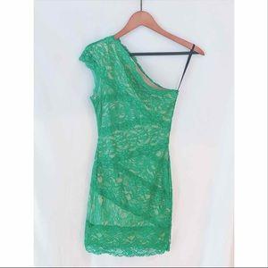 Bebe Kelly Green Lace Dress- XS